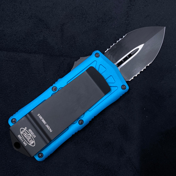 Microtech Exocet Turquoise PS 157-2 TQ OTF (Black 1.95in)