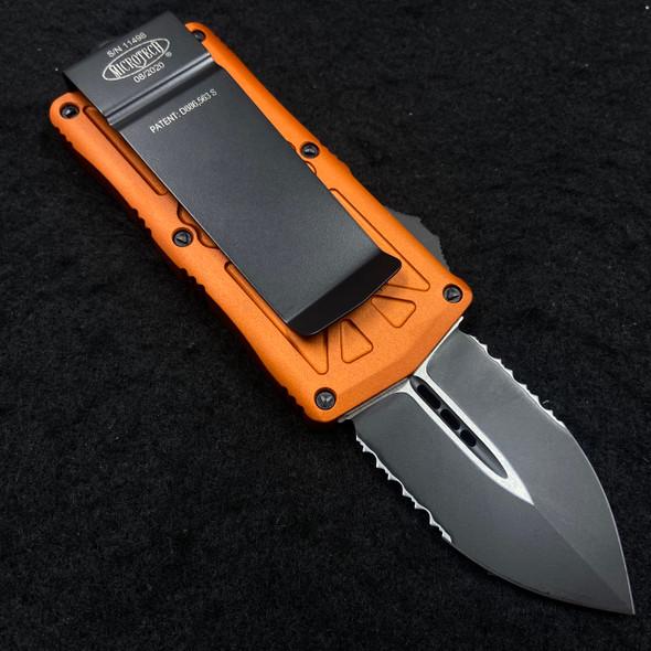 Microtech Exocet Orange Black PS 157-2 OR OTF (Black 1.95in)