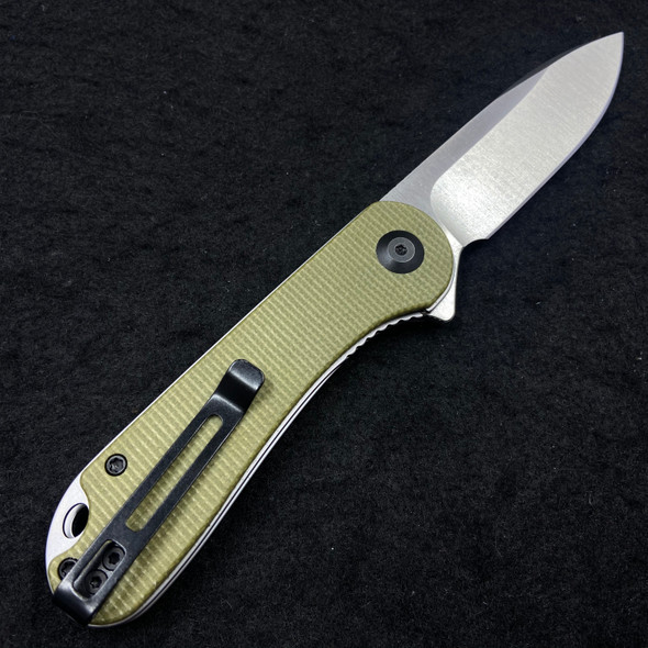 "CIVIVI Elementum Liner Lock Knife Olive Micarta (2.9"" Satin D2) C907S"
