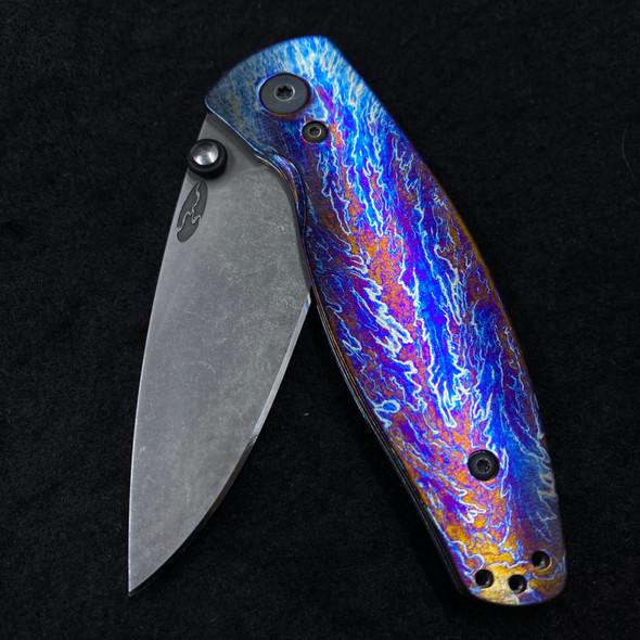 Way Of Knife & EDC Gear House Exclusive Titanium TRM V1 Neutron Scales (Stonewashed)