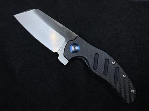 "Kizer Vanguard Sheepdog XL C01C Liner Lock Knife Carbon Fiber (4"" Satin)"