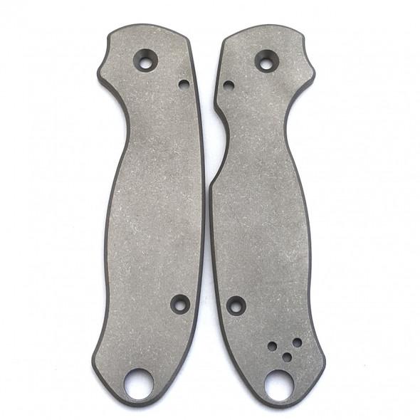 Flytanium Titanium Spyderco Para 3 Scales (Stonewash)