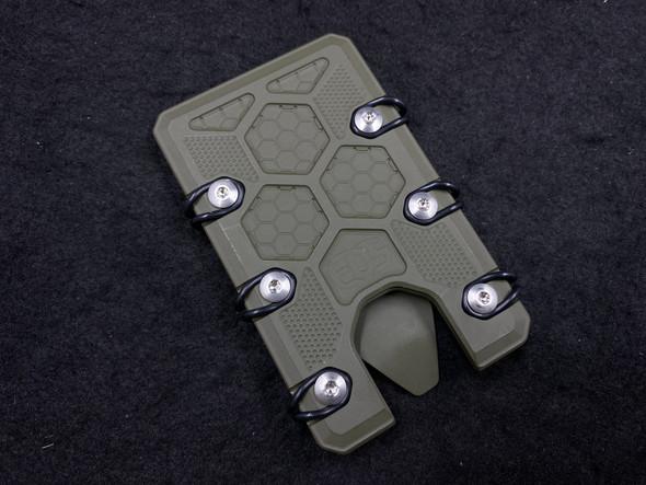 EOS 2.5 OD Green Cerakote Titanium Wallet