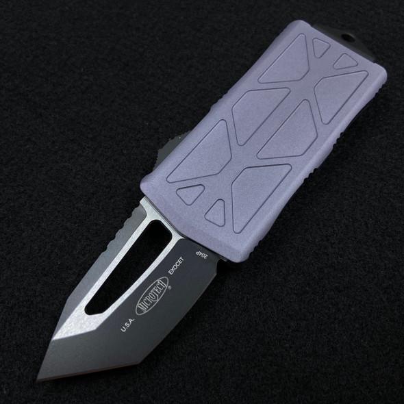 Microtech Exocet Black Blade T/E Gray 158-1 GY