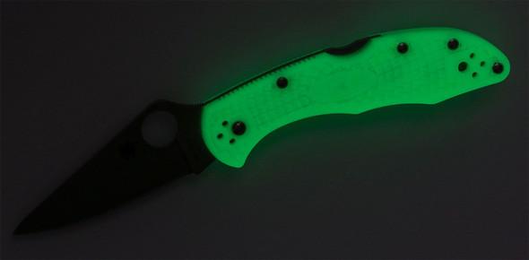 Spyderco Delica 4 Glow-In-The-Dark FRN (Satin VG10)