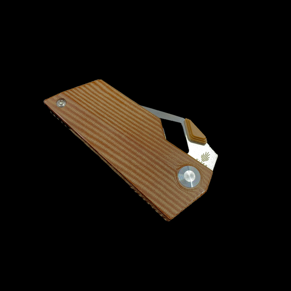 "Kizer Cyber Blade Frame Lock Knife Brown Micarta (2.1"" Satin)"