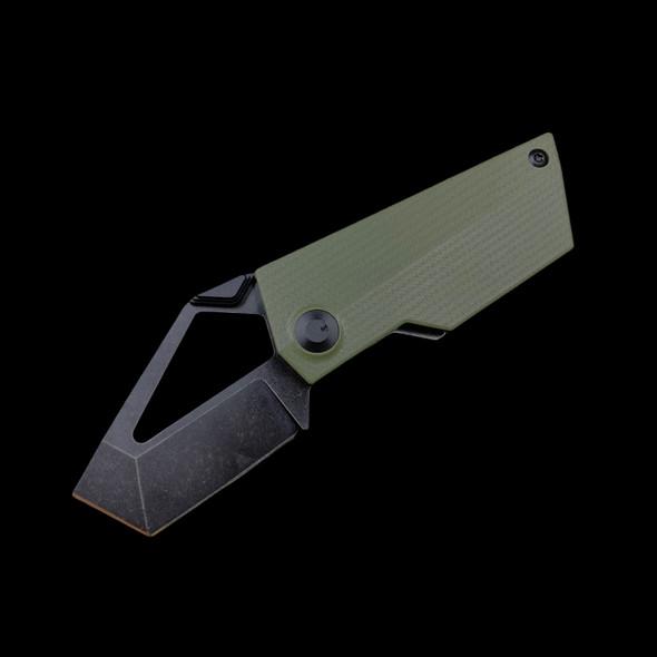 """Kizer Cyber Blade Frame Lock Knife Green G-10 M390 (2.1"""" Black)"""