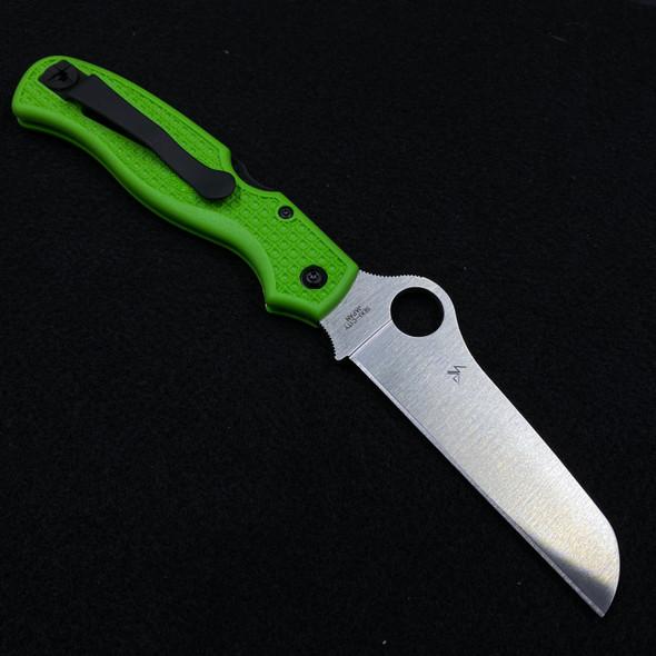 "Spyderco Atlantic Salt Folding Dive Knife Green FRN (3.69"" Satin LC200N)"