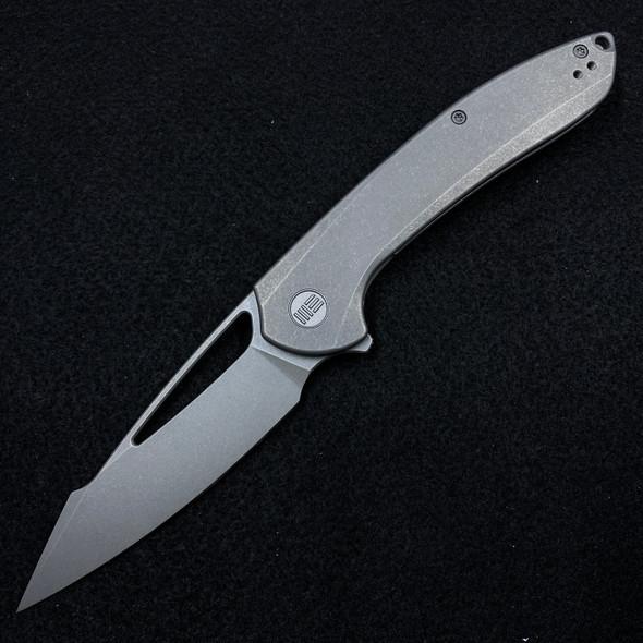 "WE Knife Co. Fornix Frame Lock Knife Gray Titanium (3.5"" Stonewash)"