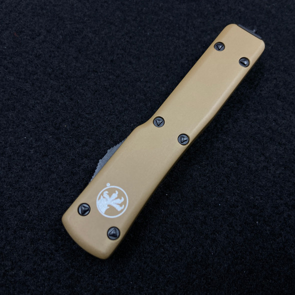Microtech UTX-70 S/E Tan Black Blade OTF
