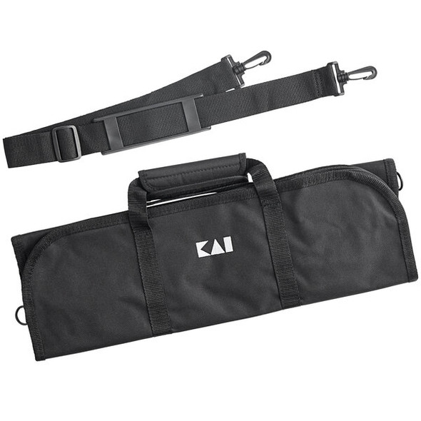 Kai Black 8pc Culinary Knife Roll