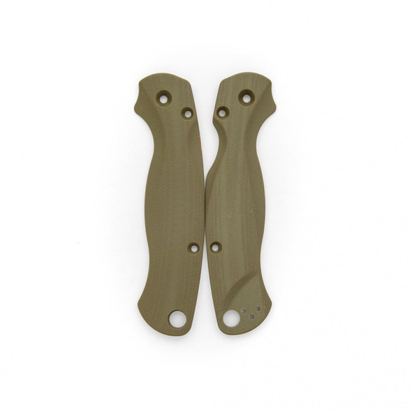 Flytanium Lotus OD Green G-10 Scales for Spyderco Paramilitary 2 Knife
