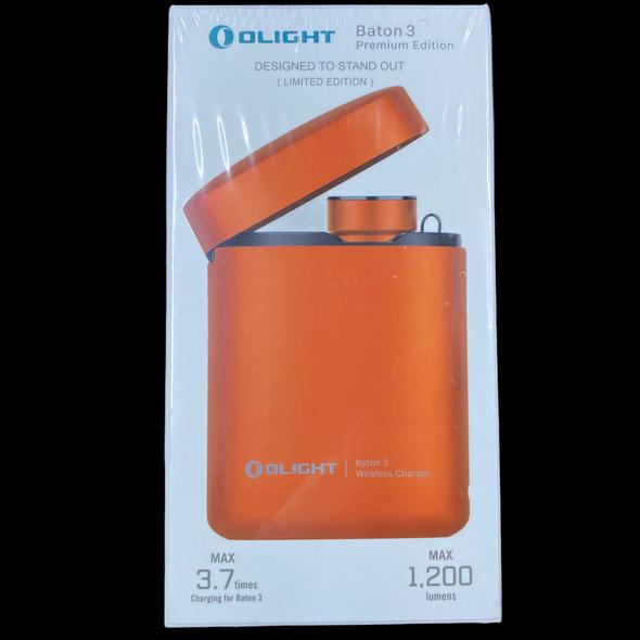 Olight Baton 3 Orange 1200 Lumen w/ Charge Bank (Limited Edition)