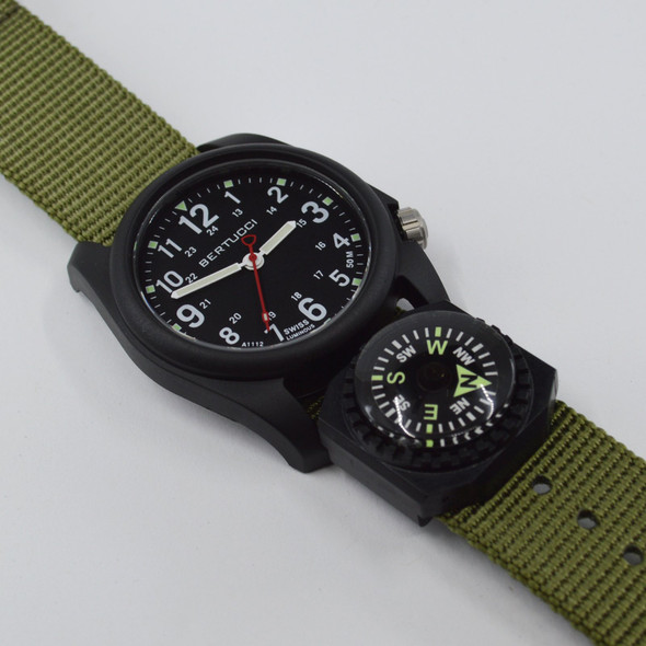 Bertucci 11103 DX3® COMPASS BLACK DIAL, FOREST NYLON BAND
