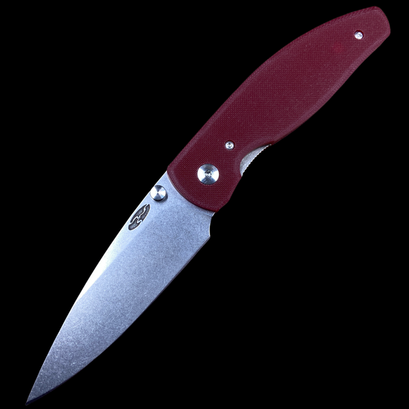 ***INSTORE ONLY, NO EXCEPTIONS*** TRM Atom Liner Lock Textured Ruby Red G10 20CV