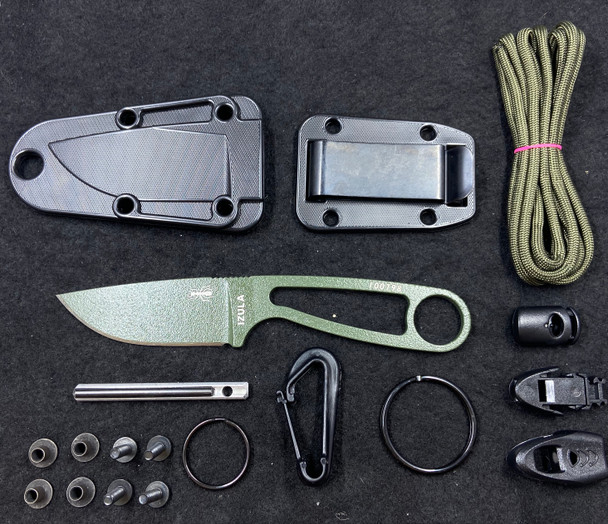 ESEE Izula OD Green Survival Neck Knife 1095 Fixed Blade