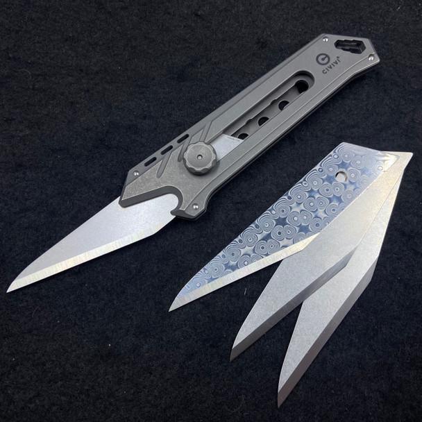 "Civivi Mandate Utility Knife Multitool Gray  (2.12"" Utility Edge)"
