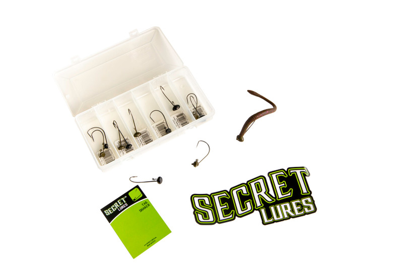 secret lures shaky head kit fishing tackle box
