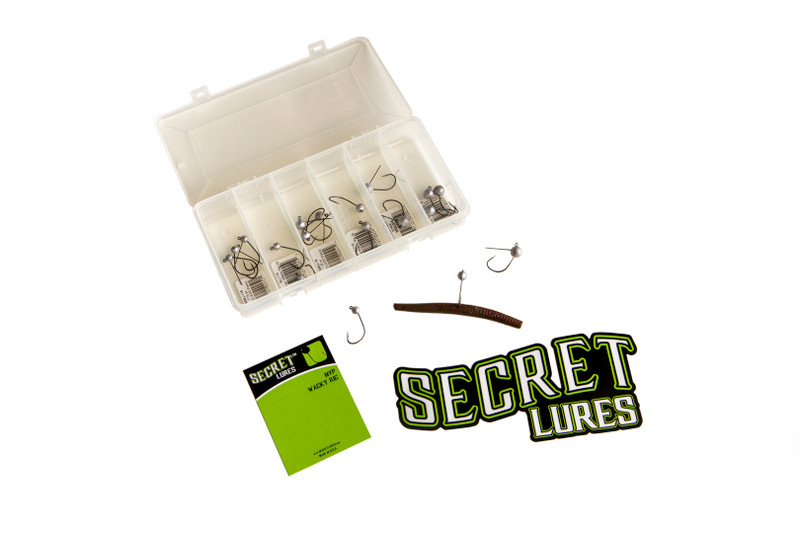 secret lures wacky rig jig kit fishing tackle box