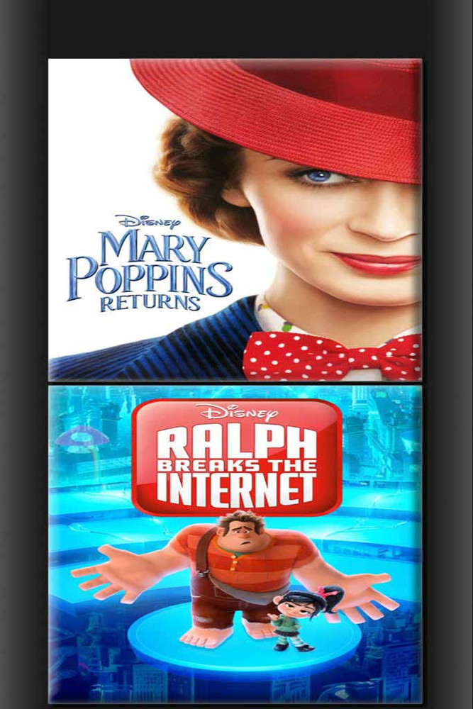 Mary Poppins Returns and Ralph Breaks The Internet: Wreck It Ralph 2 BUNDLE