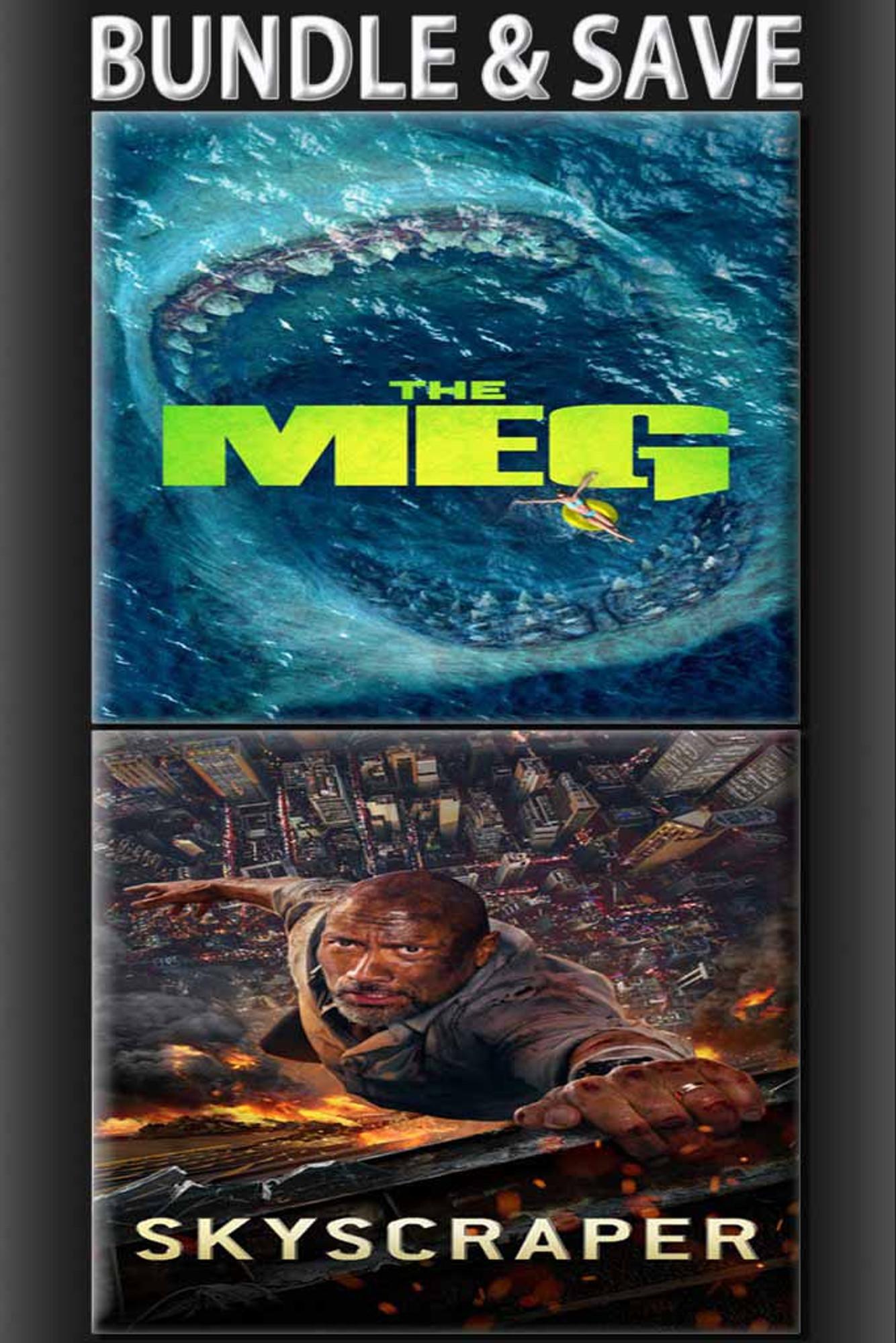 The Meg + Skyscraper Bundle [Movies Anywhere, Vudu or iTunes via Movies  Anywhere]
