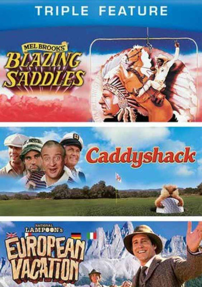 Caddyshack, Blazzing Saddle, National Lampoon's European Vacation BUNDLE