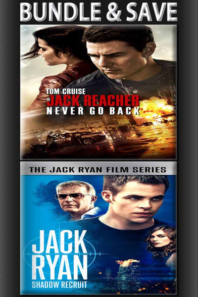 Jack Ryan: Shadow Recruit + Jack Reacher: Never Go Back BUNDLE