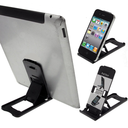LUPO Universal Foldable Plastic Desk Stand for all iPad's, iPhone's, Tablets and Smartphones (Black)