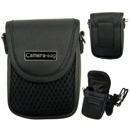 LUPO Universal Compact Digital Camera Case Bag (Internal Size: 100 x 65 x 30mm) - BLACK