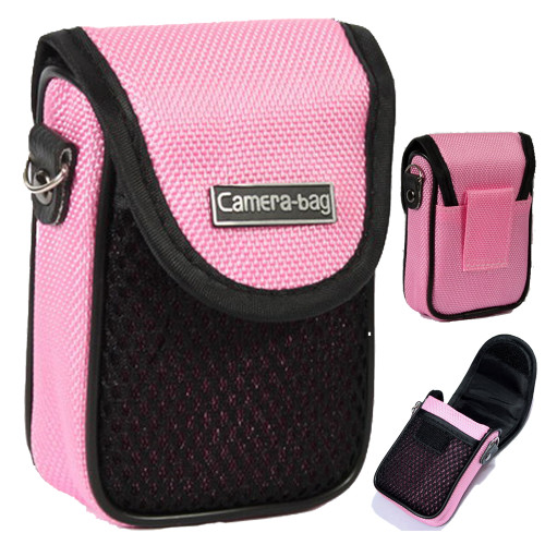 LUPO Universal Compact Digital Camera Case Bag (Internal Size: 100 x 65 x 30mm) - PINK
