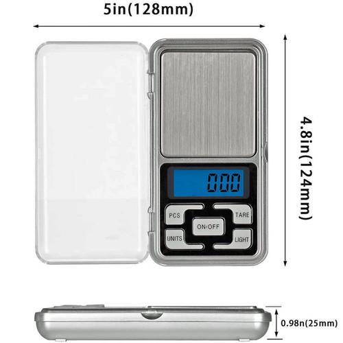LUPO LCD Mini Precision Digital Pocket Scale 500g x 0.1g