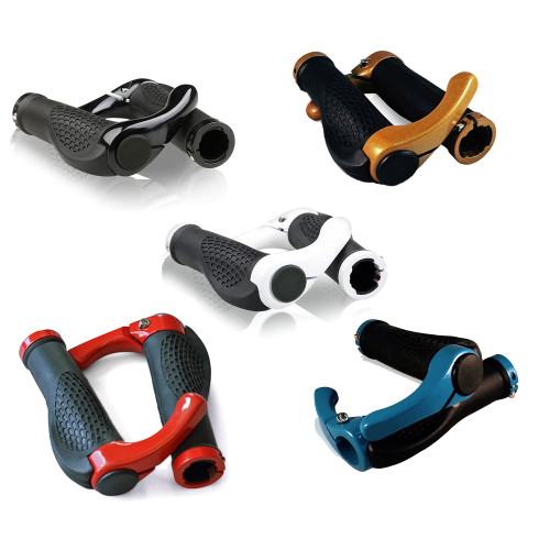 LUPO Ergonomic Bicycle Lock on MTB Mountain Bike Handle Bar Grips + Ends