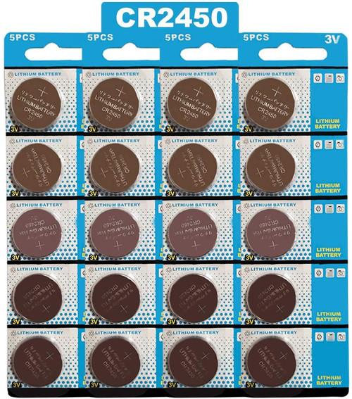 20 x 3V CR2450 Lithium Button Batteries