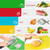 4 Chopping Cutting Mats Flexible Colour Coded Slicing Boards
