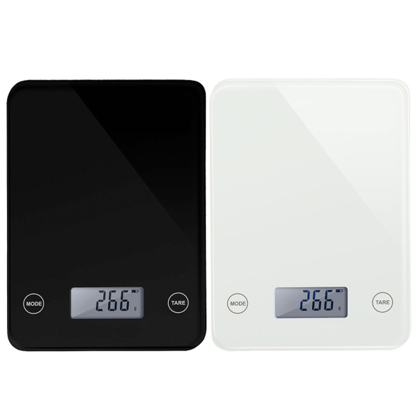 LUPO Slim Digital LCD Glass Electronic Kitchen Postal Food 5KG Weighing Scales