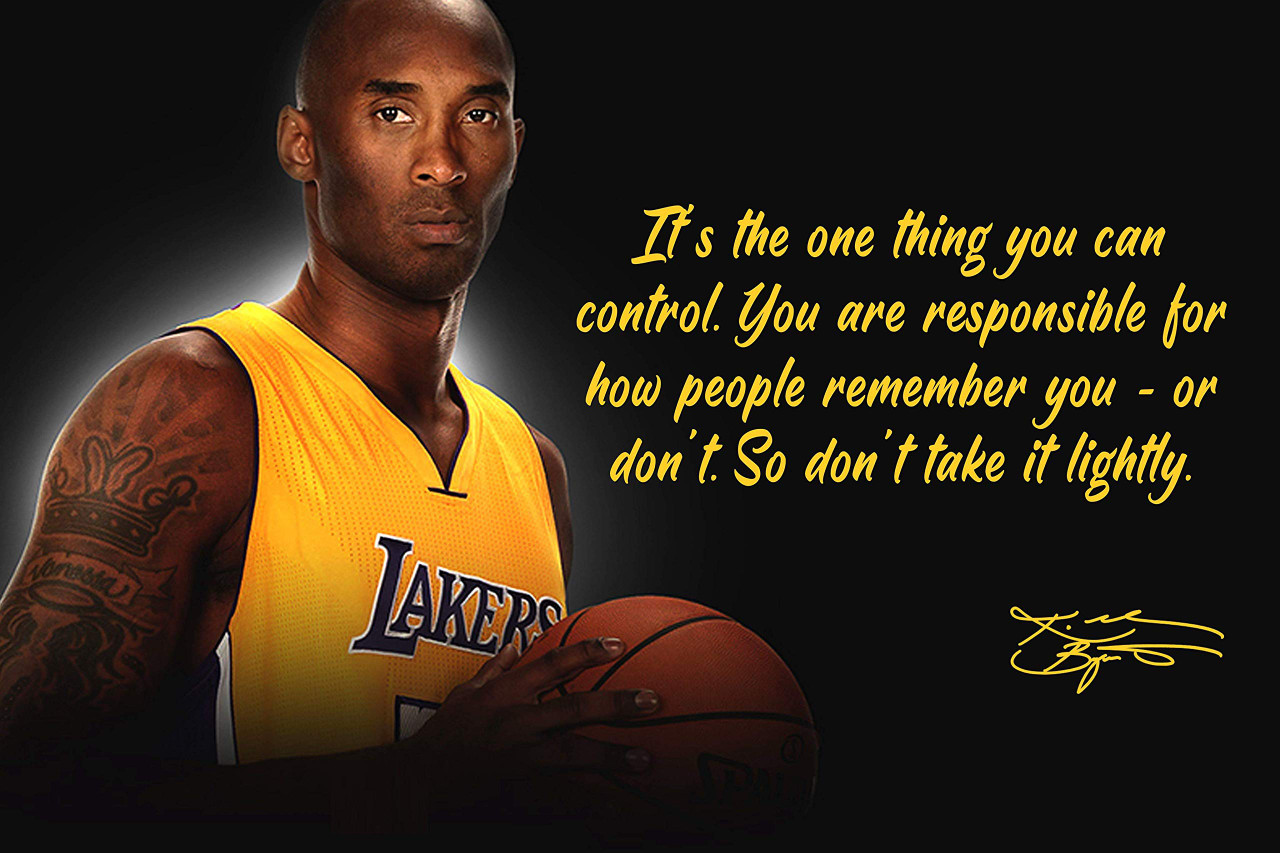 Kobe Bryant Poster Quote Black History Month Posters Los ...