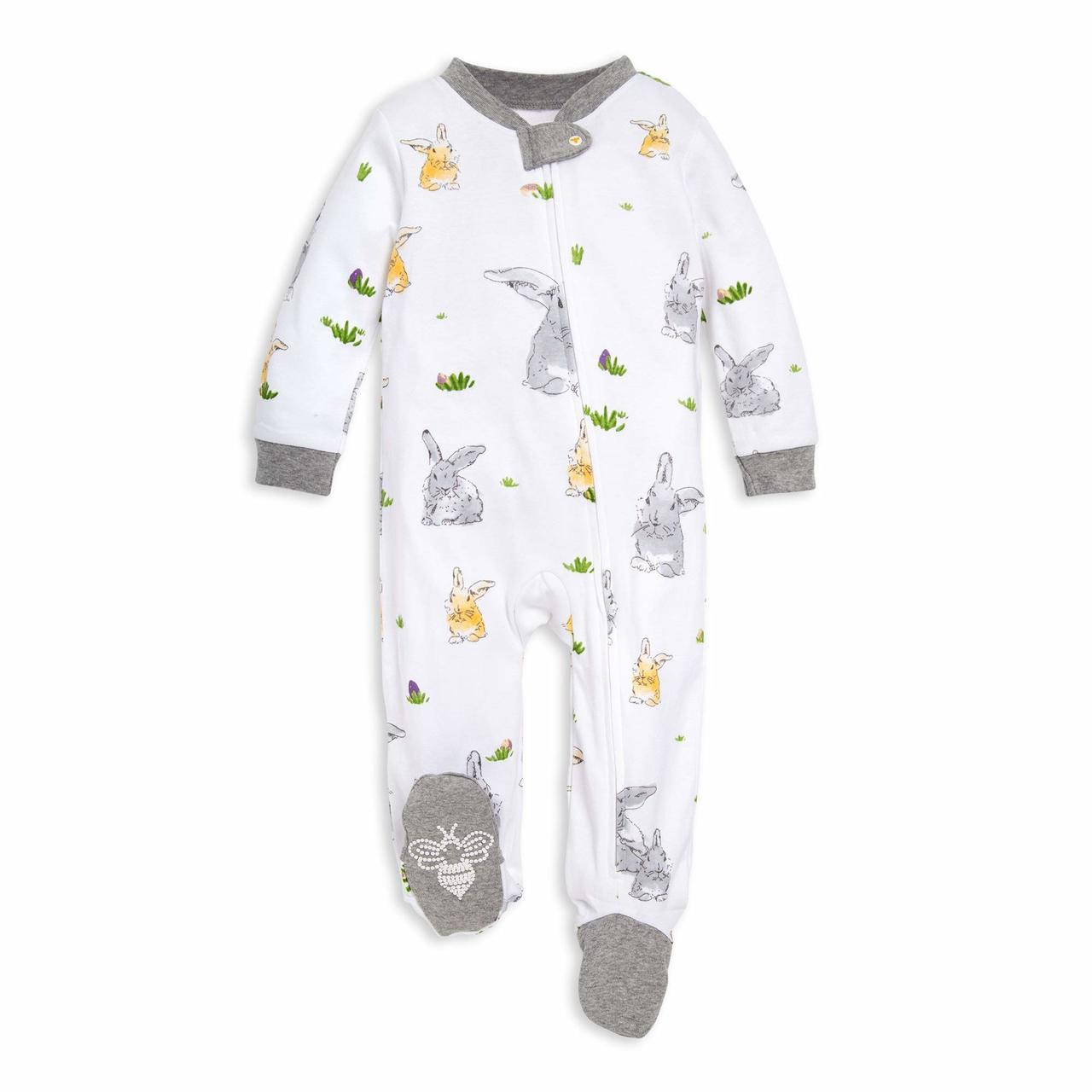 Zip Front Footed Pajama 0-3 Months Burts Bees Baby Baby Sleep /& Play Organic One-Piece Romper-Jumpsuit PJ Ruffled Feathers