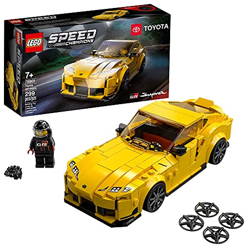 LEGO Speed Champions Toyota GR Supra 76901 Toy Car Building Toy; Racing Car Toy for Kids; New 2021 (299 Pieces)