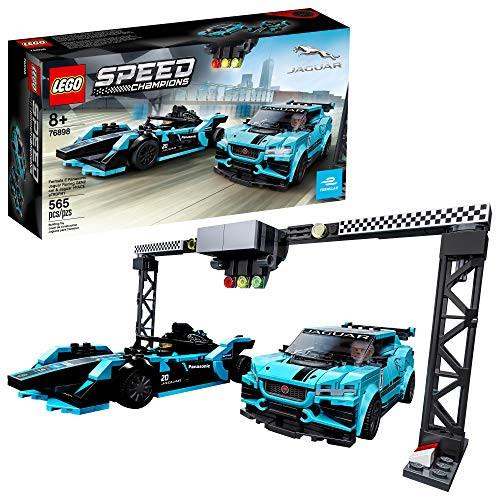 LEGO Speed Champions Formula E Panasonic Jaguar Racing Gen2 car and Jaguar I-PACE eTROPHY 76898 Building Kit (564 Pieces)