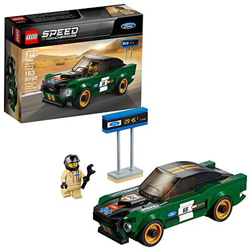 LEGO Speed Champions 1968 Ford Mustang Fastback 75884 Building Kit (183 Pieces) (Discontinued by Manufacturer)