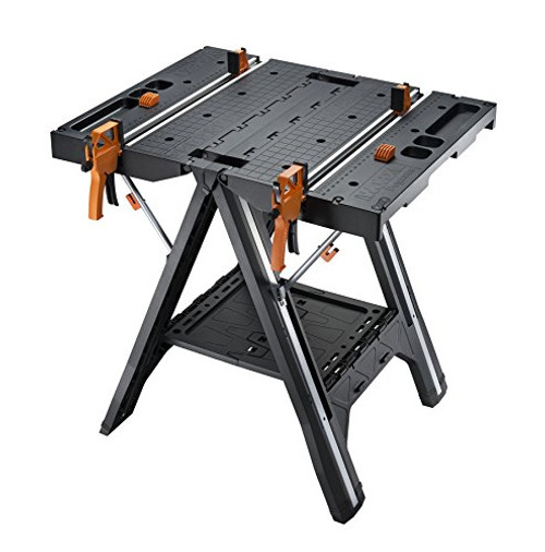 WORX Pegasus Multi-Function Work Table and Sawhorse with Quick Clamps and Holding Pegs WX051