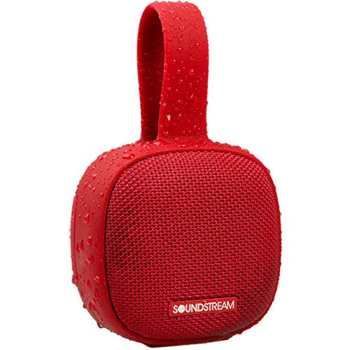 Soundstream h2GO IPX7 Waterproof Portable Bluetooth Speaker - Red