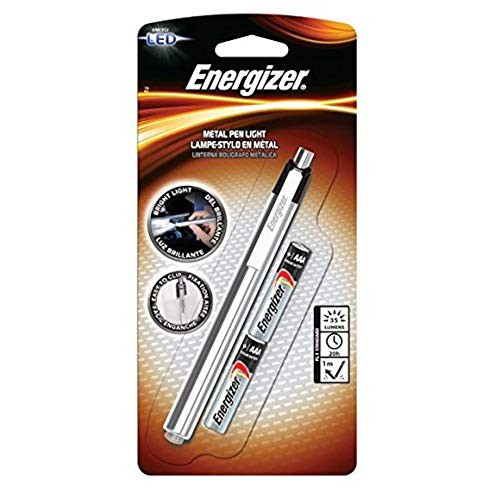 Energizer Aluminum Pen LED Flashlight, Black