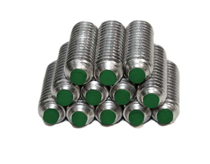 (12) Nylon Tipped Set Screws