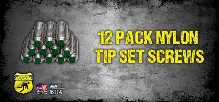 (12) Nylon Tipped Set Screws