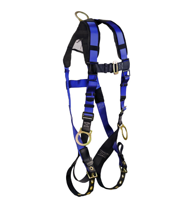 FallTech 7018B Contractor+ Harness, Non-Belted 3 D-Rings, 1 Back and 2 Hips. Available in 2 Sizes.