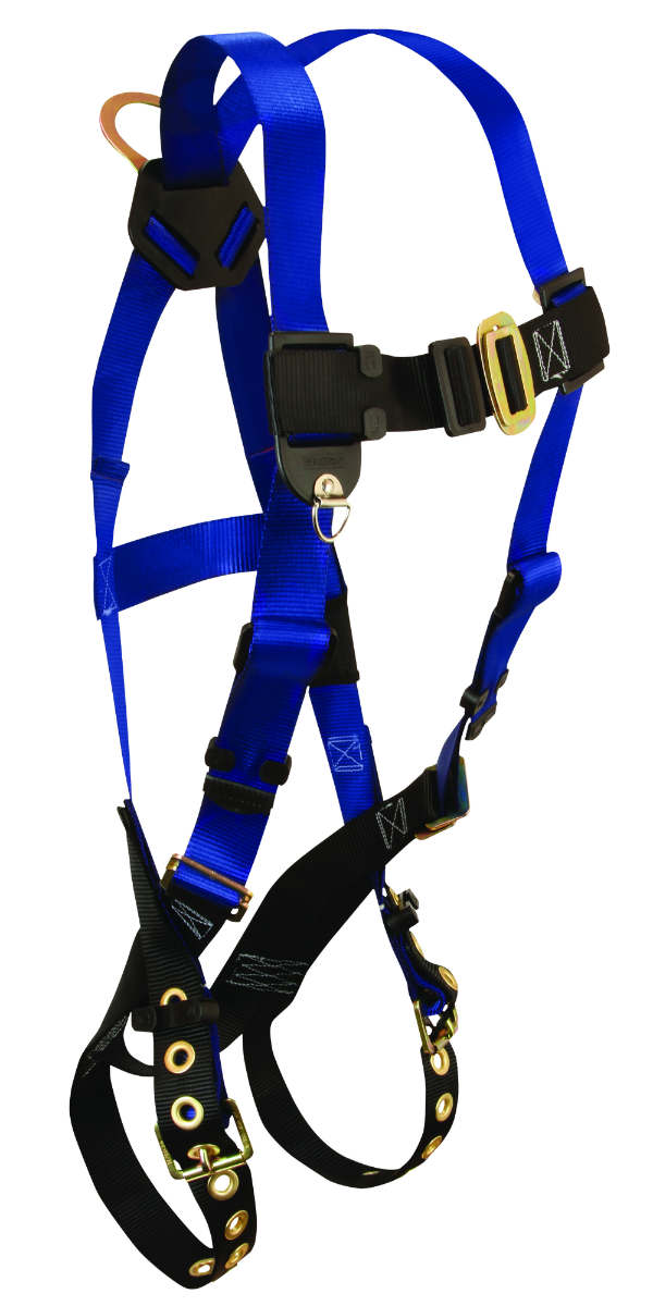 FallTech 7016 Harness, Non-Belted 1 Back D-Ring, Tongue Buckle Legs, Mating Buckle Chest, Available in 3 Sizes.