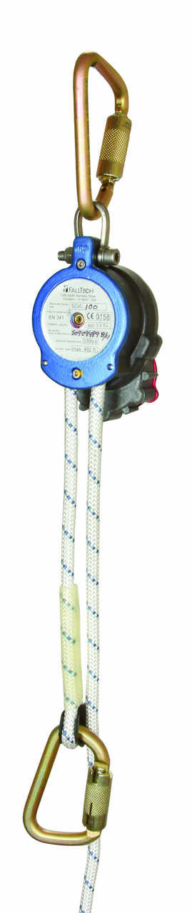 FallTech 5030 Controlled Descent Kit, 4' Per Second w/ Carabiners and Bag.  Available in 4 Lengths 60' to 250'.