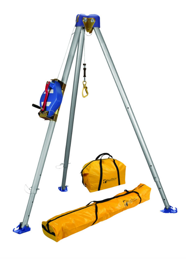 FallTech 7500 60' Tripod Kit - Available in Galvanized or Stainless Cable