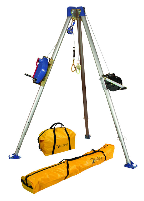 FallTech 7504 60' Tripod Kit - Available with Galvanized or Stainless Steel Cable